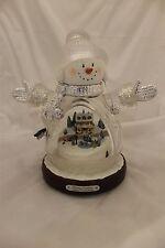Thomas Kinkade Illuminated Crystal Snow Girl Figurine Bradford Exchange