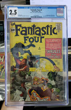 FANTASTIC FOUR #2 - CGC Grade 2.5 - First appearance of the SKRULLS!