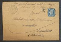 1876 Env Saint-Jeures/Hte Loire, C18 obl N°60 très rare (GC remplaçant) TB X5067