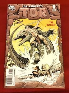 Tor #1 Signed by Joe Kubert & Pete Carlsson (July 2008, DC) VF/NM