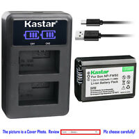 Kastar Battery LCD Dual Charger for Original Sony NP-FW50 & OEM Sony BC-TRW