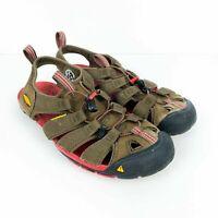 KEEN Mens 9 Clearwater CNX Sport Sandals Brown Red Waterproof Hiking - Walking