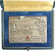 France city view LA VILLE DE NICE silvered-bronze 73mm x 51mm by Fraisse