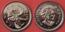 Brilliant Uncirculated 2004P Canada 25 Cents From Mint's Roll