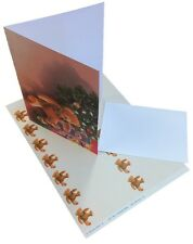 Decadry SPZ-2076 Blank Christmas Greeting Cards With Matching Envelopes & Labels