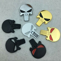 3D Metal Punisher Emblem Sticker Skull Badge Decal For Car Motorcycle Bike Truck