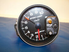 """Auto Meter Tach with shift light 5"""" Monster Tachometer Gauge Black 10,000 Used"""