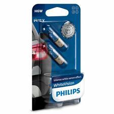 H6W PHILIPS WhiteVision 434 12V 6W 12036WHVB2 BAX9s Bulbs Twin SALE