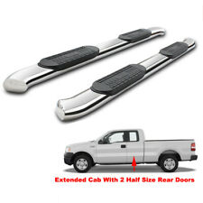 5in Bent Running Boards For 04-08 Ford F150 Super/EXT Cab Side Step Nerf Bars