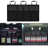 Universal Car Organizer Trunk Rear Back Seat Storage Bag Mesh Net Pocket Black