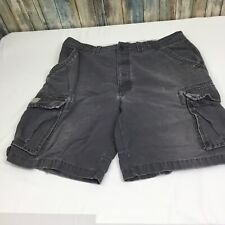 Urban Pipeline Up Mens Size 38 100% Cotton Gray Distressed Cargo Shorts