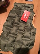 New! Reddy Olive / Orange Trim Zip&Stow Dog Puffer Jacket Sm - New with Tags