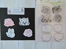 Flowers and dog stamp and die set