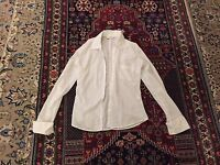 White long sleeved topshop shirt size 8 with breast pocket/ euro 36