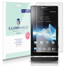 iLLumiShield Matte Screen Protector w Anti-Glare/Print 3x for Sony Xperia S