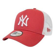 New Era Uomo Ny Yankees League Essenziale Visiera Cappellino - Corallo BNWT
