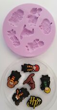 HARRY POTTER CHARACTERS SILICONE MOULD FOR CAKE TOPPERS CHOCOLATE, CLAY ETC
