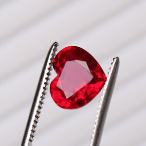 Natural Red Ruby 4.95 Ct Perfect Heart Cut Mozambique Loose Certified Gemstone