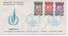 FRANCE 1969 F.D.C. U.N.E.S.C.O.OBLITERATION:LE 8/3/69 PARIS