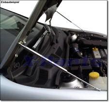 2 Chrom Edelstahl Haubenlift Opel Astra G Haubenlifter polierter Edelstahl