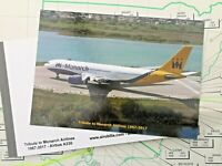 MONARCH AIRLINES AIRBUS A330 TRIBUTE SPECIAL EDITION POSTCARD