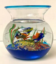 VINTAGE MURANO ART GLASS FISH BOWL