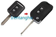 Nissan micra navara qashqai murano x-trail 2 button flip key fob kit de conversion
