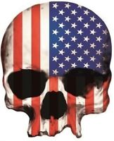 SKULL AMERICAN FLAG STICKER / DECAL