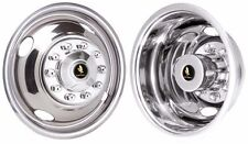"FORD F450 F450 F-53 16"" 10 LUG STAINLESS STEEL WHEEL COVER HUBCAP LINERS SET (4)"
