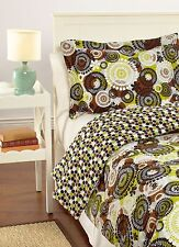 Vera Bradley Reversible 2 PC Comforter Set Twin/twin XL in Cocoa Moss