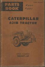 CATERPILLAR 631B TRACTOR PARTS BOOK