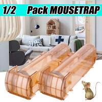 1/2x  Humane Rat Trap Cage Animal Pest Rodent Mice Mouse Bait Catch Captu
