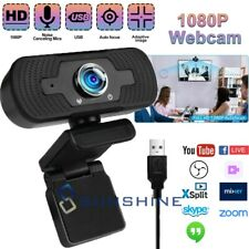 1080P HD USB Webcam with Microphone Web Camera Auto Focus for Laptop Desktop PC