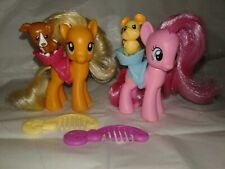 My Little Pony Applenack And Pinkie Pie Saddle With Puppy Dog Mouse Lot