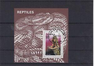 TANZANIE 1994 REPTILE SERPENT VIPERA BLOC OBLITERE YT 217
