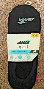 Avia  No Show Liner Socks Sport 5 Pack Shoe size 9 10 11 12