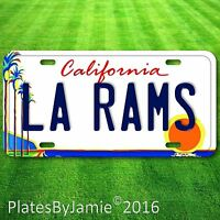 Los Angeles California LA RAMS NFL Football Team Alum Vanity License Plate New 1