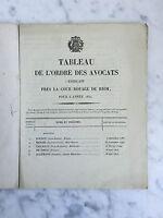 Cruscotto Di Ordine Delle Avvocato Exerçant Vicino La Corte Reale Di Riom 1830