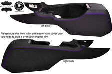 PURPLE STITCH 2X CENTER CONSOLE SIDE TRIM LEATHER COVERS FITS FORD MUSTANG 10-14