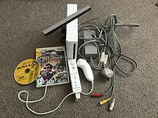 Nintendo Wii Bianco CONSOLE PAL con 2x EUR Games