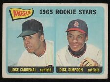 1965 TOPPS #374 ROOKIE STARS/ JOSE CARDENAL / SIMPSON - ROOKIE CARD - EX-MT (6)