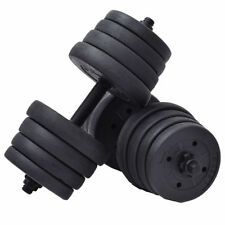 66LB Adjustable Dumbbell Bar Weight Set Gym Barbell Plates Muscle Body Building