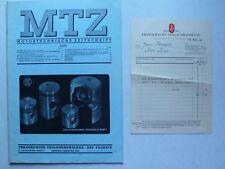 MTZ Motortechnische Zeitschrift 1951 Nr.1 mit MAN Viertakt Dieselmotor, Aspin I