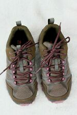 Merrell Boulder Brown Pink Lace Up Hiking/Trail Sneakers Shoes Womens 6.5 EU37