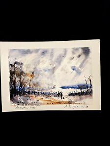 "Original Watercolour Painting "" Atmospheric Scene ""."