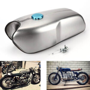 9L / 2.4 Gallon Universal Custom Cafe Racer Gas Fuel Tank for Honda Yamaha BMW