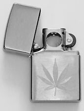 Zippo Engraved Marijuana Leaf Lighter With Pipe Insert, 29587 Pipe, New In Box