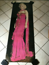 VINTAGE 1987 HUGE MARILYN MONROE DOOR POSTER