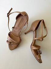 LONGCHAMP High Heels BEIGE/ Nude Shoes Size 36 Sandals Made In ItalyNEW ORG.$700