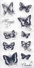 Butterfly ~ Butterflies ~ 11 pc. 4x8 sheet ~ Cloud9 Rubber Cling Stamps ~ NEW